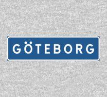 Gothenburg, Road Sign, Sweden One Piece - Long Sleeve