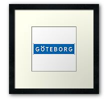 Gothenburg, Road Sign, Sweden Framed Print