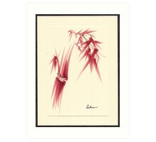 """Delicate"" - Original Huntington Gardens Plein Air Drawing Art Print"