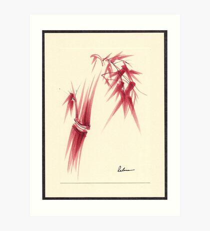 """Delicate"" - Original Huntington Gardens Plein Air Drawing Art Print"
