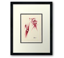 """Delicate"" - Original Huntington Gardens Plein Air Drawing Framed Print"