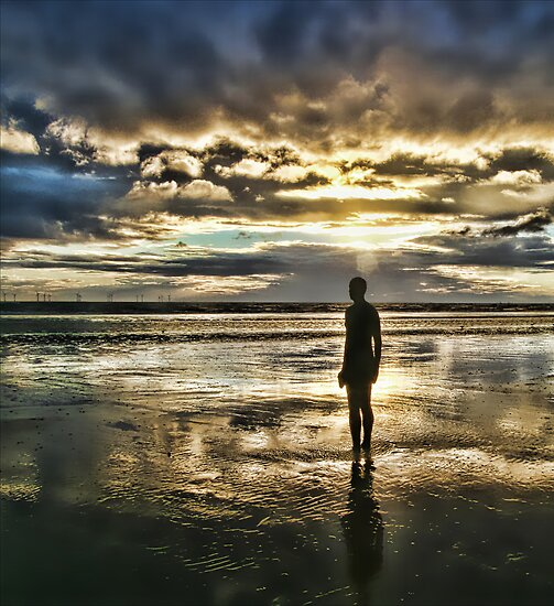 Crosby Beach - Another Place by Liam Liberty