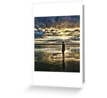 Crosby Beach - Another Place Greeting Card