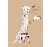 Creating delicious food - Otter-Burlywood Photographic Print