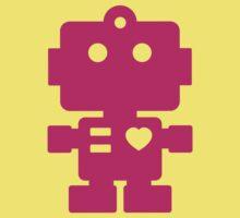 Robot - Magenta Kids Tee