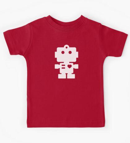 Robot - fresh spearmint & white Kids Tee