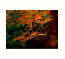 Brush Fire Art Print