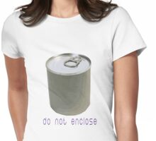 tin can Womens Fitted T-Shirt