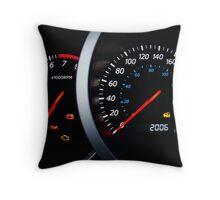 Car dashboard. Throw Pillow