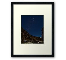 Southern Cross over Cave Stream Framed Print