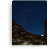Southern Cross over Cave Stream Canvas Print