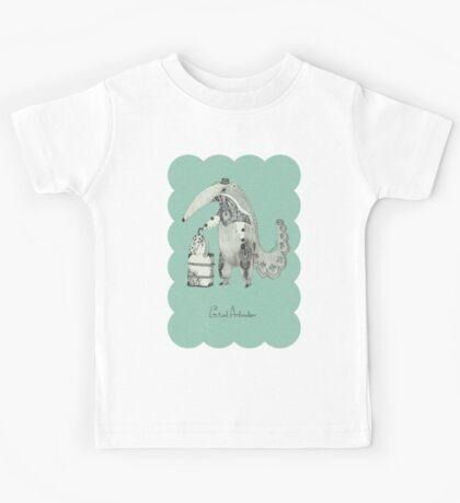 Beginning on your journey - Giant Anteater - Green Kids Tee