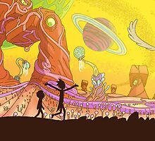 Rick and Morty-- landscape by lovecooks
