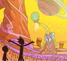 Rick and Morty-- landscape Sticker