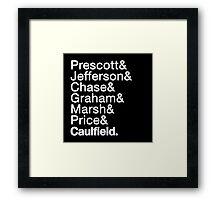 Life is Strange Helvetica Shirt Framed Print