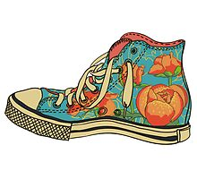 Floral Shoe by SourKid