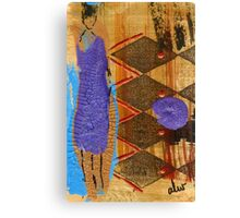 My New Purple Dress Canvas Print