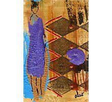 My New Purple Dress Photographic Print