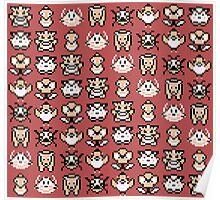 Pokémon Menu Sprites (Red) Poster