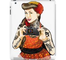 Vintage pin-up tattoo iPad Case/Skin