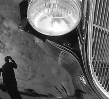 1923 Model T Reflections ~ I Give Up!!!  B&W by Debbie Robbins