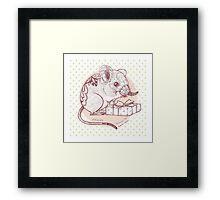 Present for You - Elephant Shrew [Pale orange] Framed Print