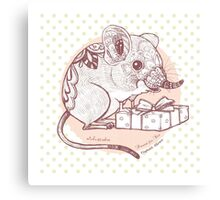 Present for You - Elephant Shrew [Pale orange] Canvas Print