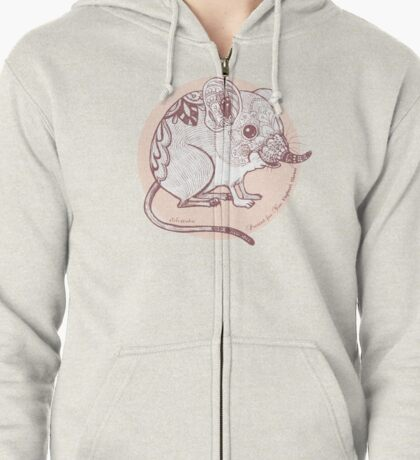 Present for You - Elephant Shrew [Pale orange] Zipped Hoodie