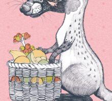 Eat Some Fresh Fruit - Asian Palm Civet - Pink Sticker