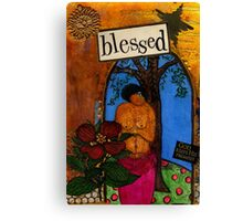 Blessed With Child Canvas Print