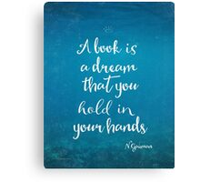 Neil Gaiman quote underwater Canvas Print