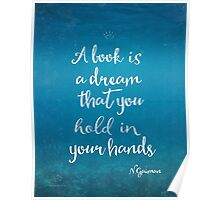 Neil Gaiman quote underwater Poster