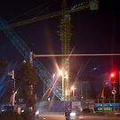 The construction crane that has the blues by Rene Fuller