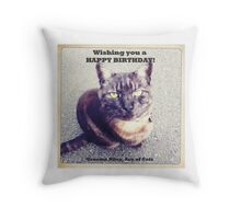Graeme Riley, Ace of Cats Happy Birthday Throw Pillow
