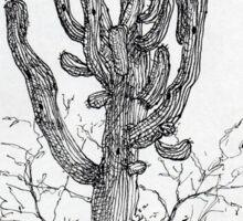 A Giant Saguaro Cactus of Southern Arizona * Sticker
