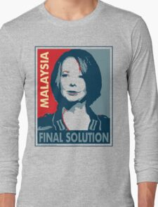 Julia - Final Solution, Cream Long Sleeve T-Shirt