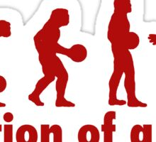 The Dude evolution red Sticker