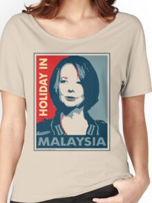 Julia - Holiday In Malaysia, Cream Women's Relaxed Fit T-Shirt