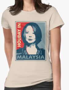 Julia - Holiday In Malaysia, Cream Womens Fitted T-Shirt