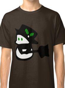 cute snowman holidays vector art Classic T-Shirt