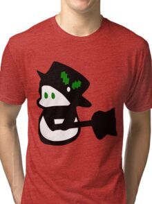 cute snowman holidays vector art Tri-blend T-Shirt