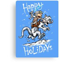 Calvin and Hoth - Holiday card Canvas Print