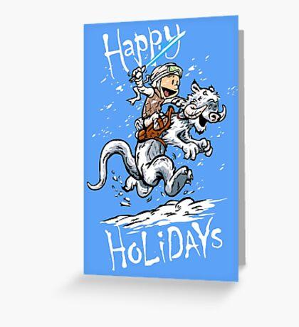 Calvin and Hoth - Holiday card Greeting Card