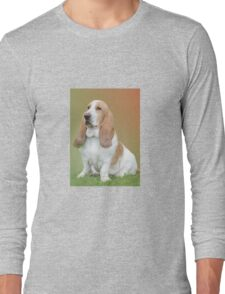 A Beautiful Basset Hound Long Sleeve T-Shirt