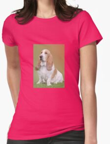 A Beautiful Basset Hound Womens Fitted T-Shirt