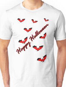 Happy Halloween bats vector art Unisex T-Shirt