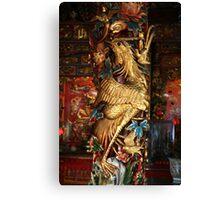 Gold Phoenix, Mythical Creature, Kuching, Sarawak Canvas Print