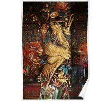 Gold Phoenix, Mythical Creature, Kuching, Sarawak Poster