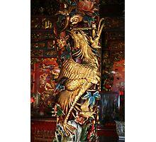 Gold Phoenix, Mythical Creature, Kuching, Sarawak Photographic Print