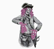 Portrait of Colonial Officer with Large Pink Face-Hands by cahill  wessel
